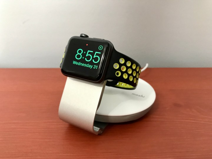 Pop the stand up to use your Apple Watch in Nightstand mode.