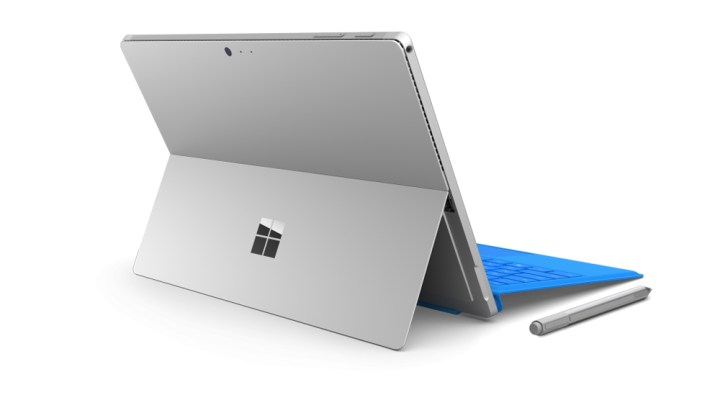 The Surface Pro 4 with Type Cover and Surface Pen.