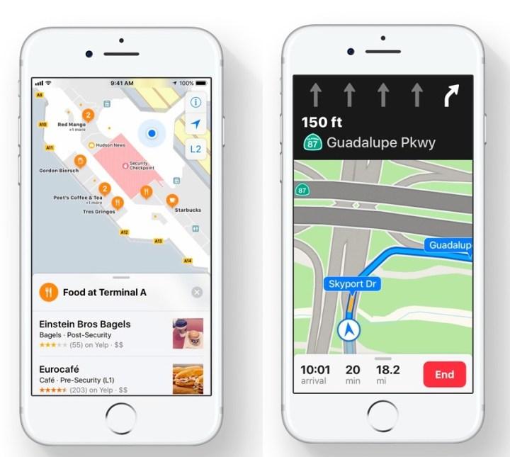 iOS 11 Apple Maps Upgrades
