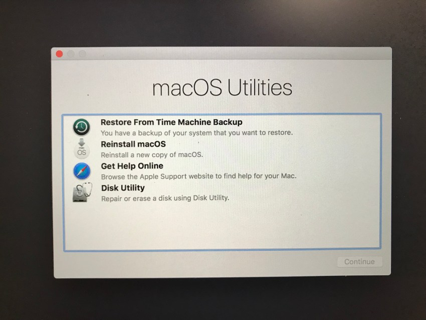 How to downgrade macOS High Sierra to macOS Sierra.