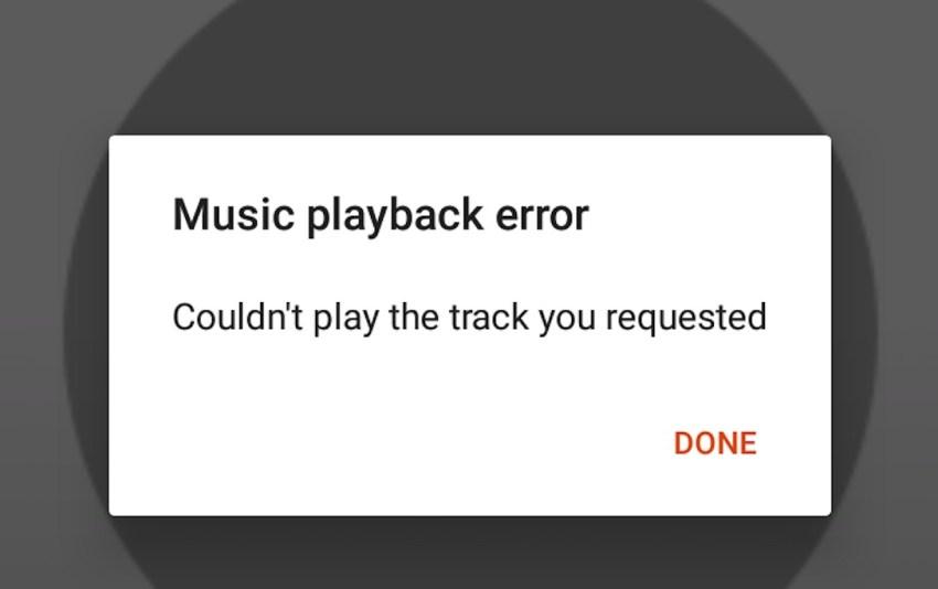 upload error google play music