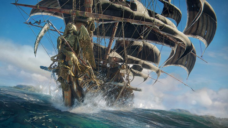 Gamers can earn frigates to battle their friends in Skull & Bones' open-world.