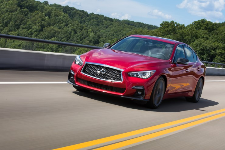 We spent our time driving the Infiniti Q50 Red Sport 400 with Direct Adaptive Steering that Infiniti tuned slightly for the new 2018 model.