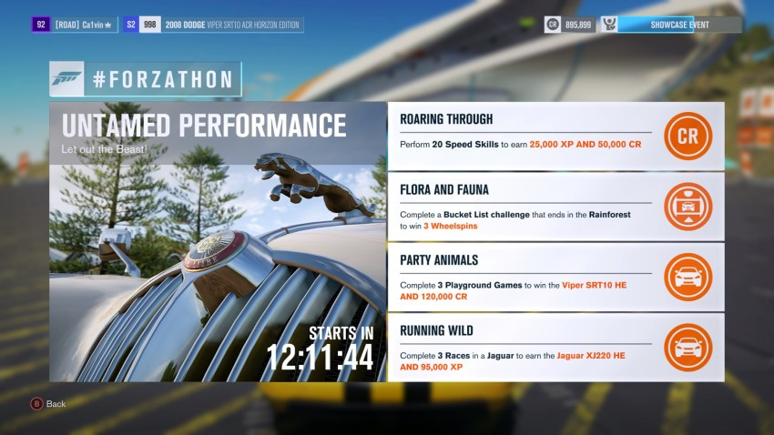 What you need to know about the new Forzathon in the middle of July.