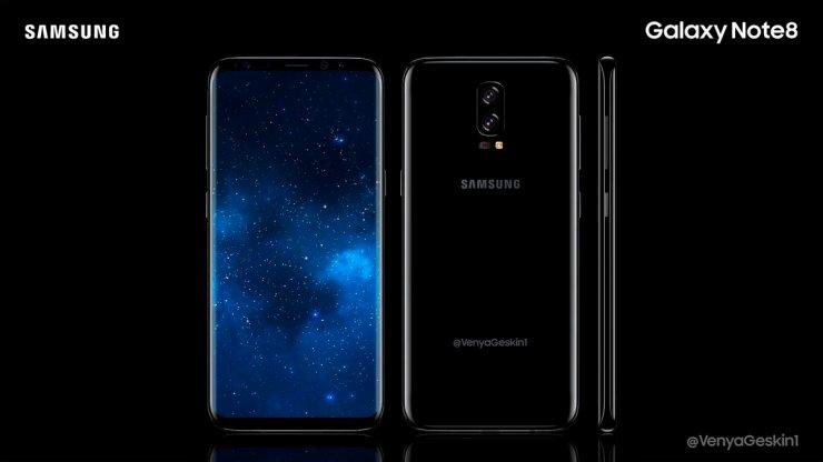 Galaxy Note 8 vs Galaxy S8: Display & Design