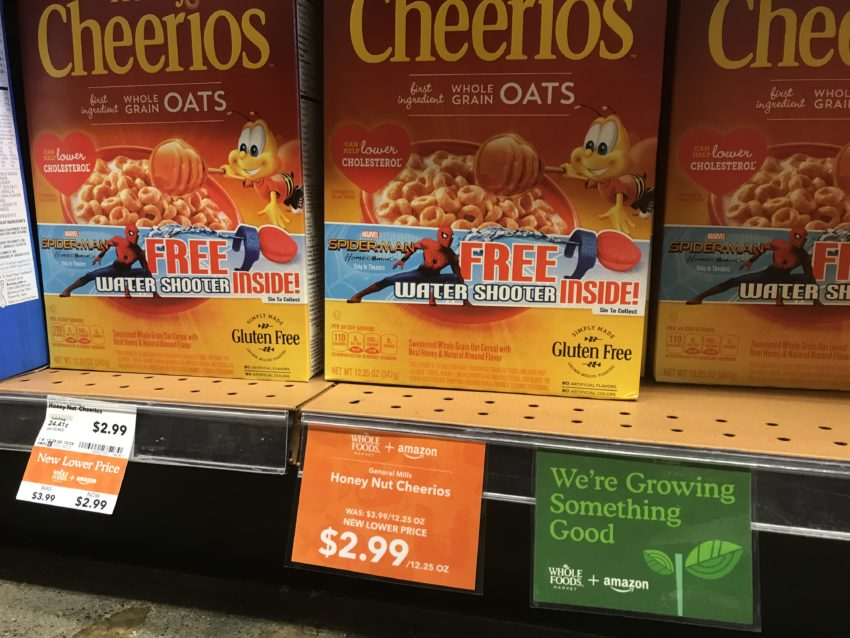 Amazon and Whole Foods Price Discounts Cheerios to $2.99