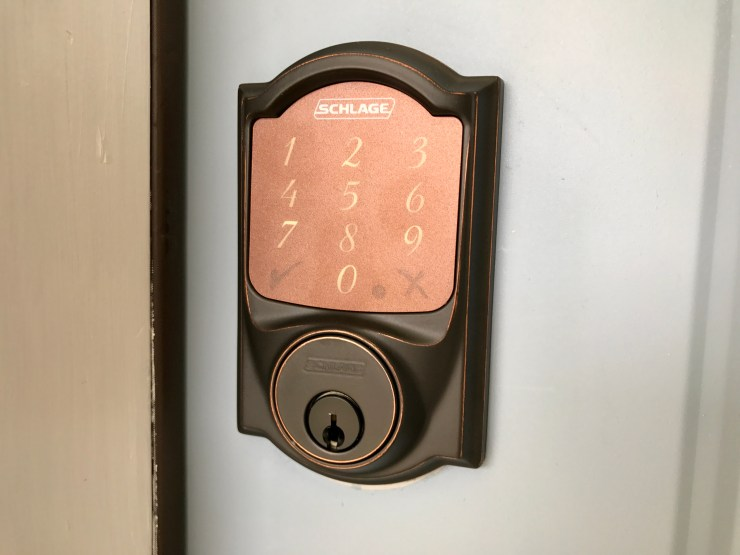 The Schlage Sense is a smart deadbolt that works with HomeKit and Siri.