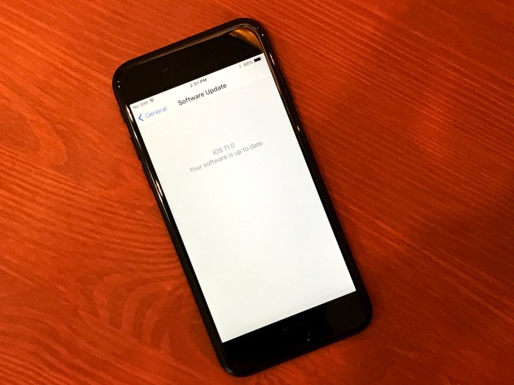 iOS 11.0.1 or iOS 11.1 Beta