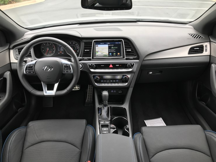 The new Sonata interior offers an upgraded look, especially in the center stack.