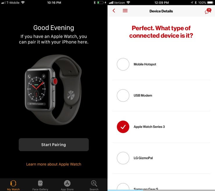 The Apple Watch 3 with LTE as discovered by 9to5Mac and Reddit user tarheel34.
