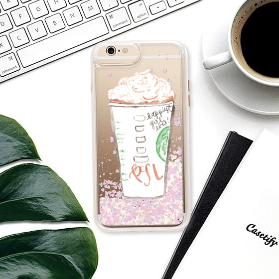 The glitteriest Pumpkin Spice Latte iPhone case you will find.