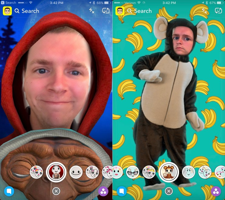 The iPhone 7 can't match the iPhone X when it comes to Snapchat skills.