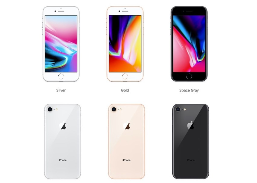 Here's the iPhone 8 color combinations you can choose.