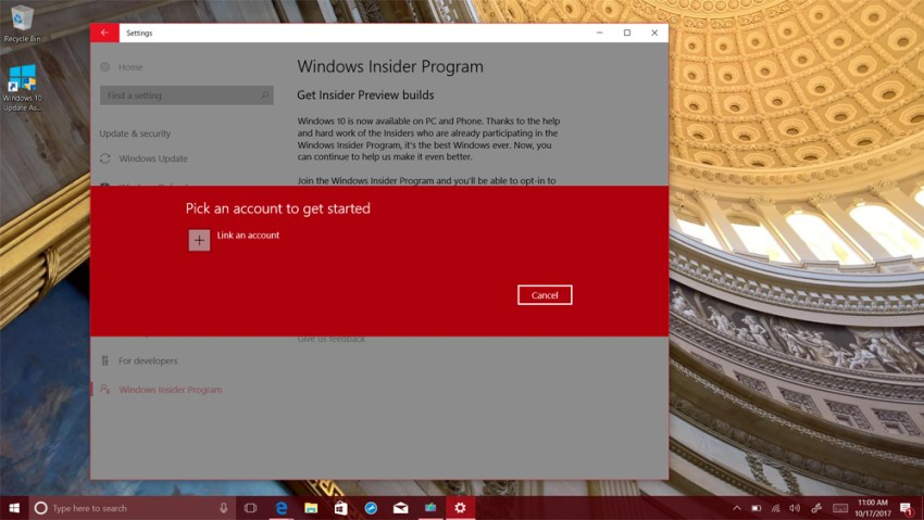 creators update how to add an account