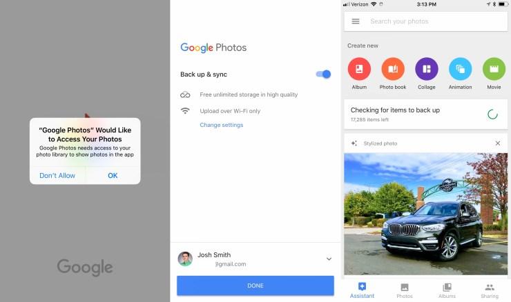 It's easy to setup Google Photos backup.