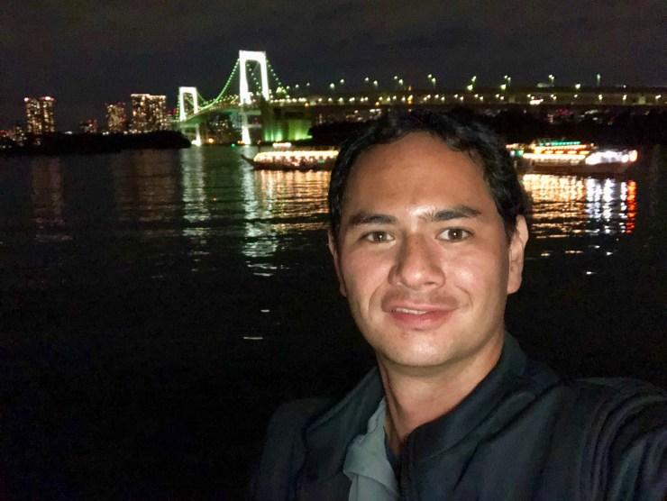 iPhone 8 Plus Review: Selfie camera selfie of man on boat