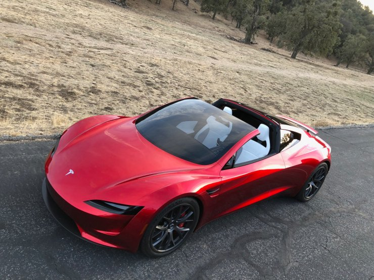 This is the new Tesla Roadster 2, coming in 2020.