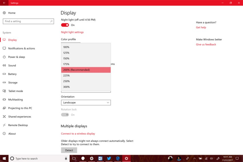 how to change size font win 10