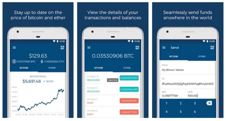 Bitcoin Wallet App By Blockchain Luxembourg This Has A Beautiful User Interface Thats Easy To Use And Tons Of Features For All Your Crypto Needs