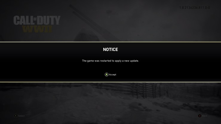 When to expect the January Call of Duty: WWII update.