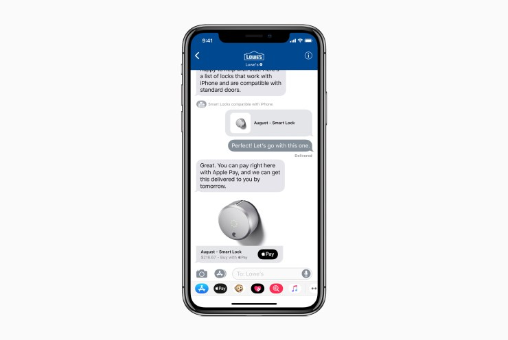 Business Chat in Messages