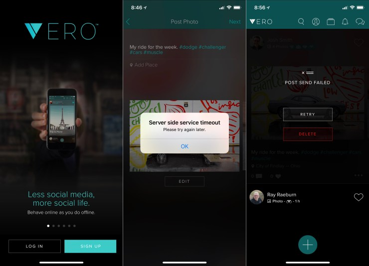 Be prepared for a decent amount of Vero problems as the app deals with new users.