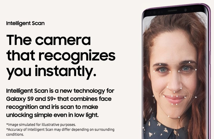 Galaxy S9 Intelligent Scan