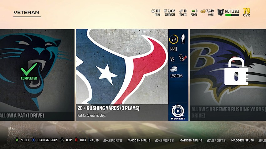 Madden 19 Ultimate Team Grind Mode