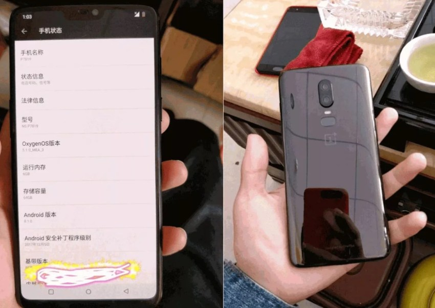 OnePlus 6 is The Next Big Smartphone to Take on TheGalaxy S9and iPhone X OP6 leak