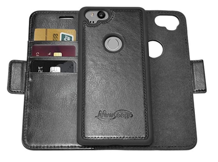 Newseego Leather Wallet Case ($15) Detachable