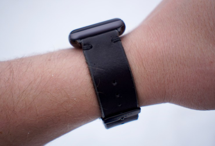 The leather band is soft and it looks great.
