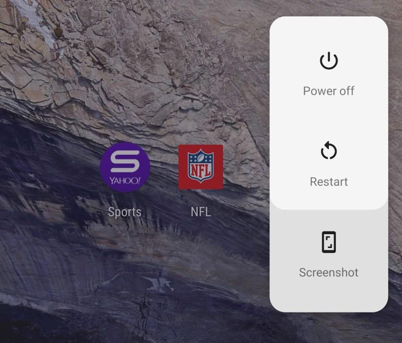 Power Menu Screenshot Shortcut