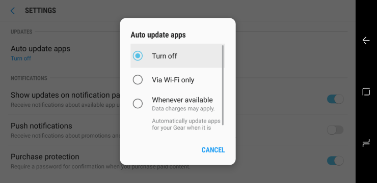 How to Disable Galaxy S9 Automatic App Updates