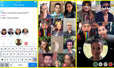 Here is a look at the new Snapchat video chat with up to 16 people and support for Snapchat Lenses.
