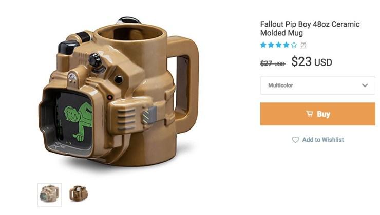 Fallout 4 Gear and a Pip Boy Mug