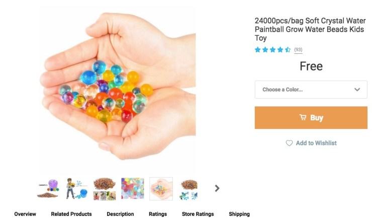 Bulk Water Grow Beads