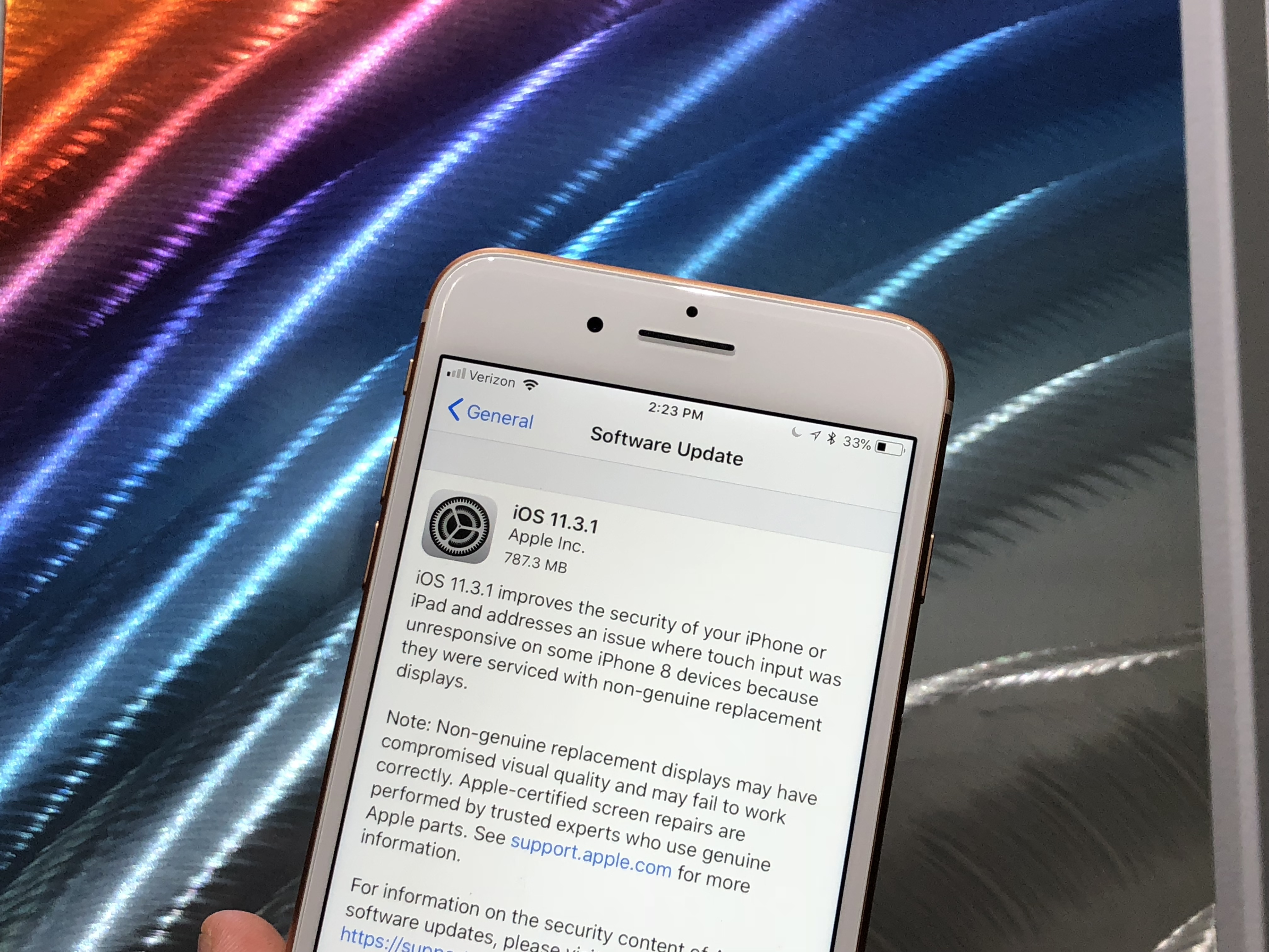 Apple update 11.3 1 issues