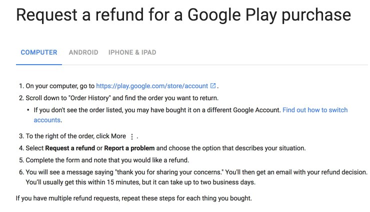 How to Get a Refund for Google Play Store Purchases