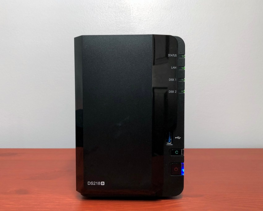 The Synology 218+ fits in perfectly in my home office.