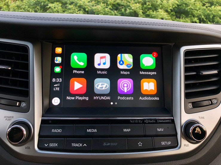 Apple CarPlay and Android Auto support came in handy on a long road trip.
