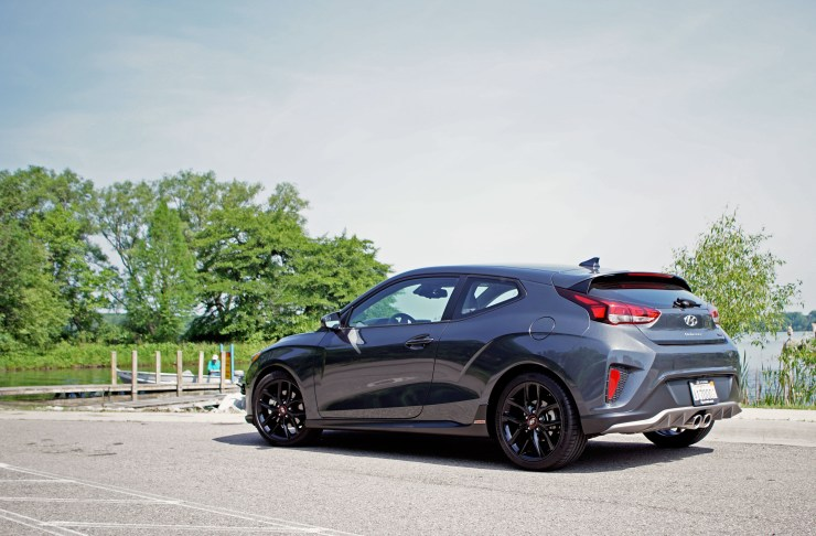 The Hyundai Veloster retains a fun design that's full of personality.