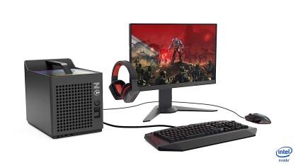 Lenovo Legion C730 with monitor and accessories