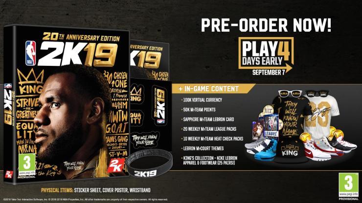 Pre-Order NBA 2K19 for These Bonuses