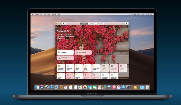 Home App on macOS Mojave
