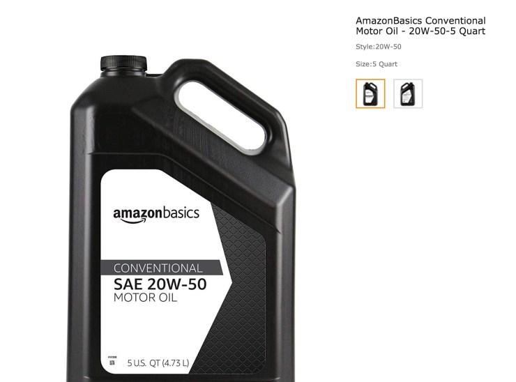 AmazonBasics Conventional Motor Oil
