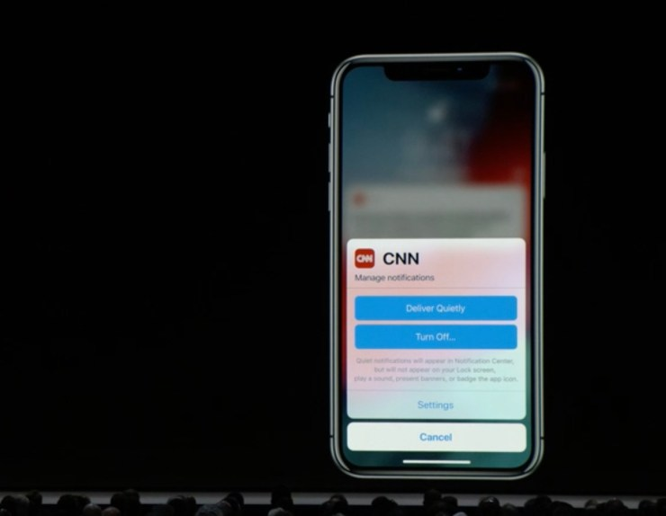 iOS 12 Notification Updates
