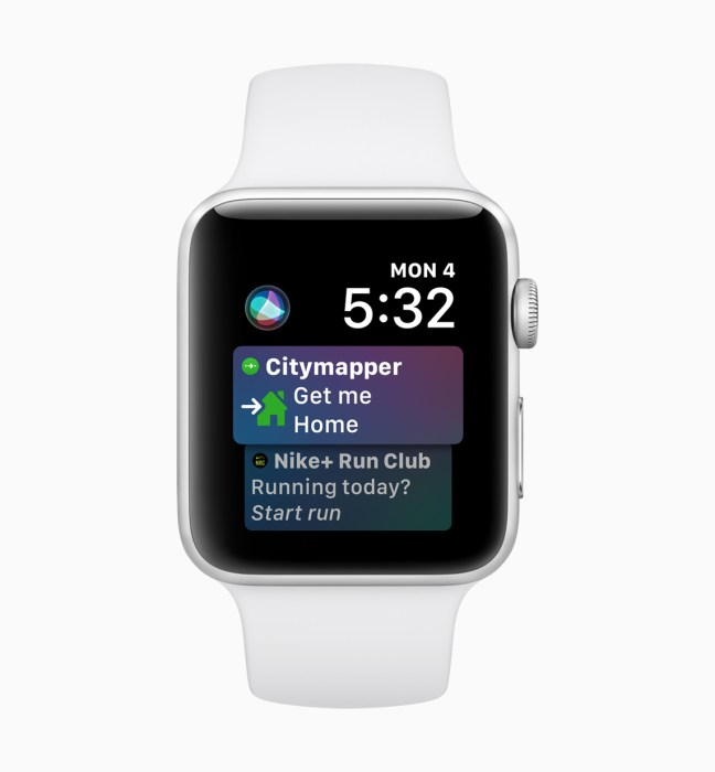 Enjoy an upgraded Siri watchface on watchOS 5.