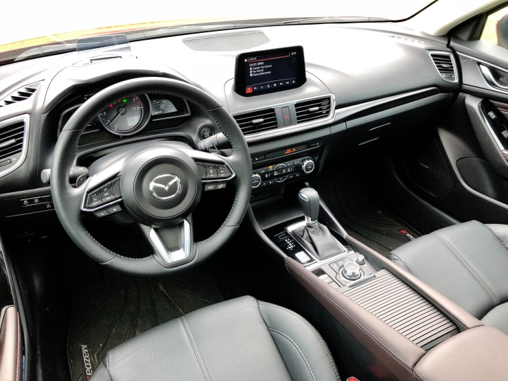 The Mazda 3 interior is nice, with everything you need at reach.