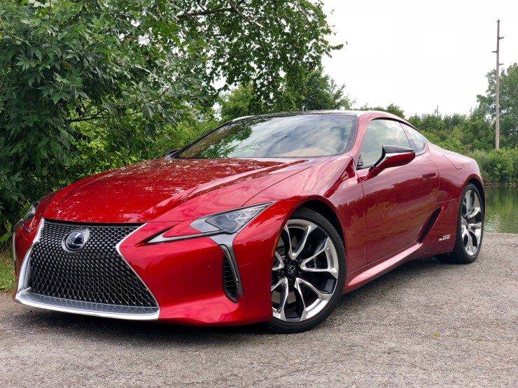The LC 500h is an eye-catching car.