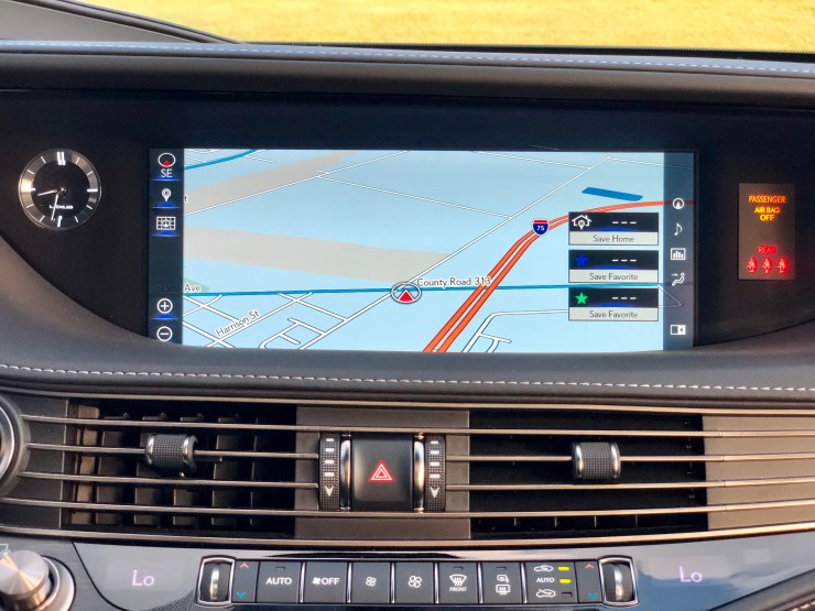 The LS 500 features a beautiful 12.3-inch display, but the infotainment system is frustrating.